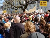 Die Proteste gehen weiter - die  aktuelle Positionierung der Grünen wird von AUGE-BetriebsrätInnen mit formuliert
