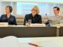 Diskussionsabend von AUGE und Grünen im Festsaal der Arbeiterkammer – Barbara Huemer, Ruperta Lichtenecker, Ulrike Schwarz