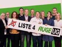 Gruppenfoto AUGE-KandidatInnen zur AK-Wahl19